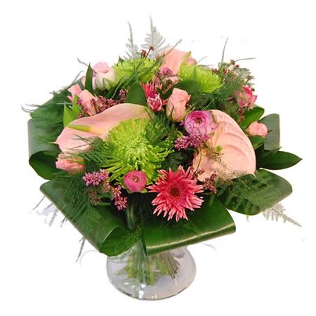Modern boeket - roze