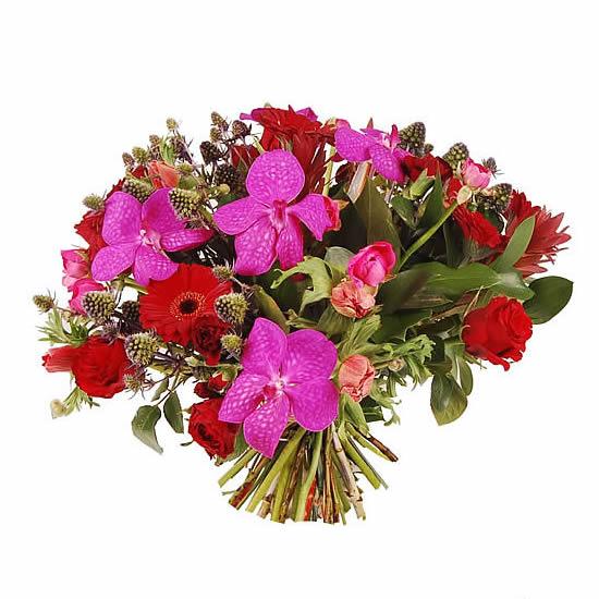 Boeket roze Orchidee
