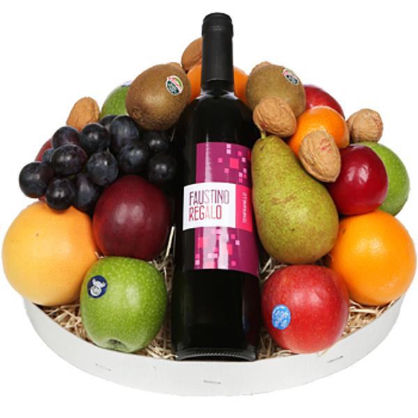 Fruit en rode wijn