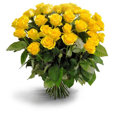 Gele rozen boeket