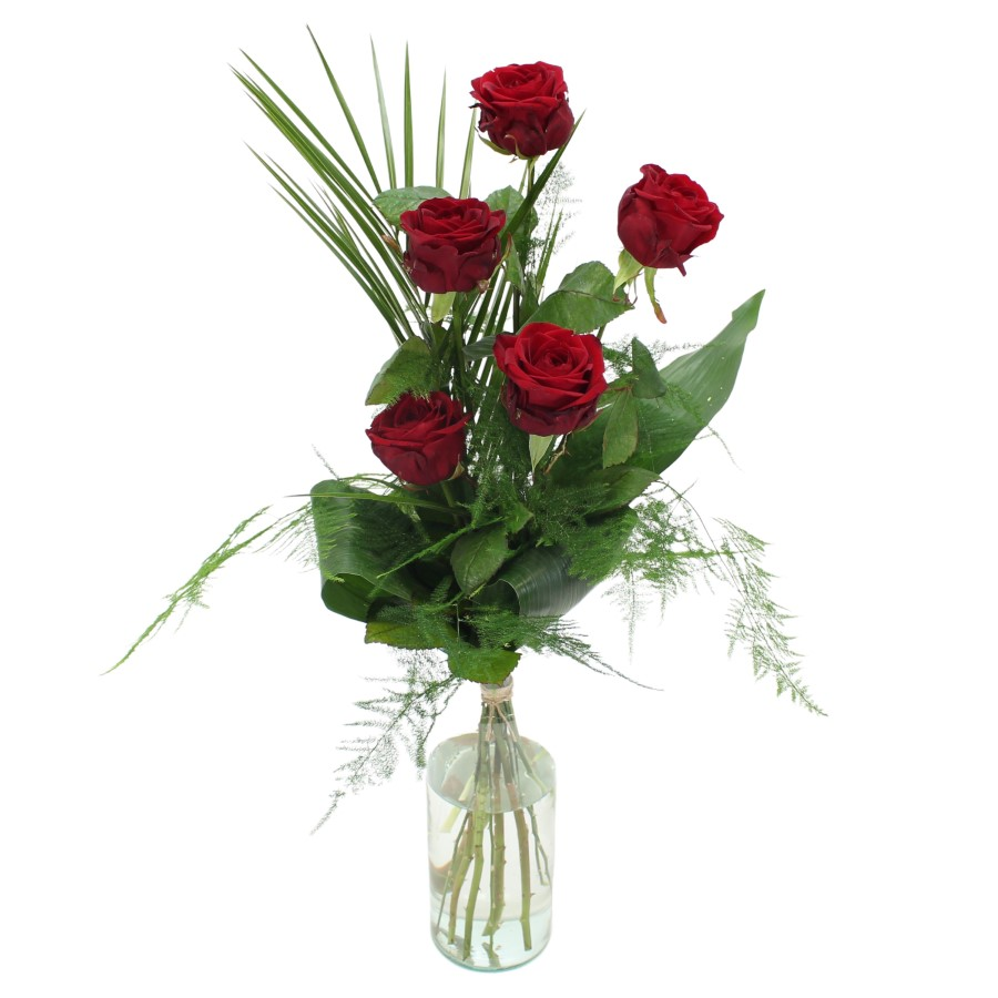Red Naomi rozen 5 stuks
