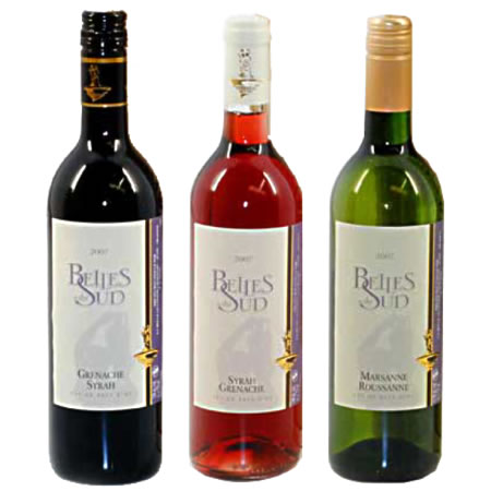 Wijn trio: Rood, Wit en Rose