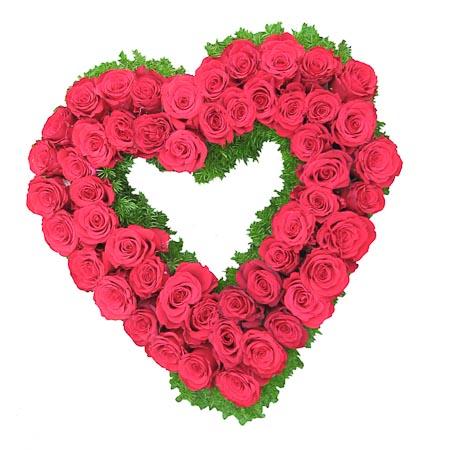 Rood rozen hart