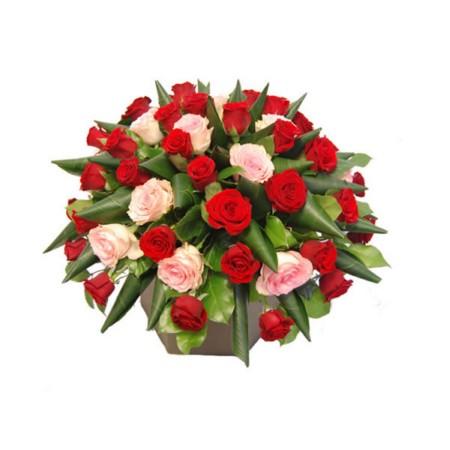 Biedermeier roze-rood