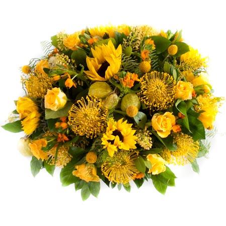 Rouwbiedermeier geel