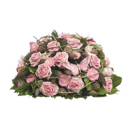 Roze rouwbiedermeier