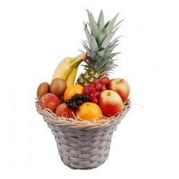 Fruitmand hoog mixed ananas
