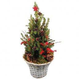 Kerstboom versierd 60cm