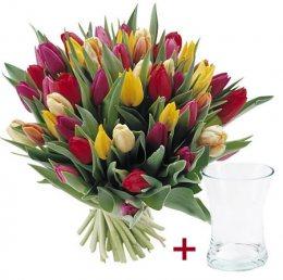 Mix Tulpen + Vaas